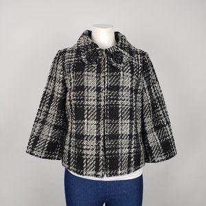 Trenz White & Black Tweed Jacket Size L